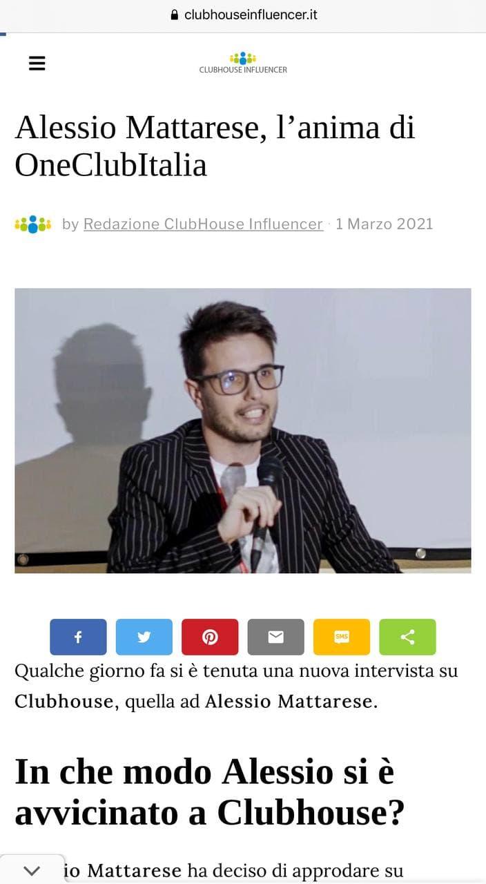Alessio Mattarese clubhouse